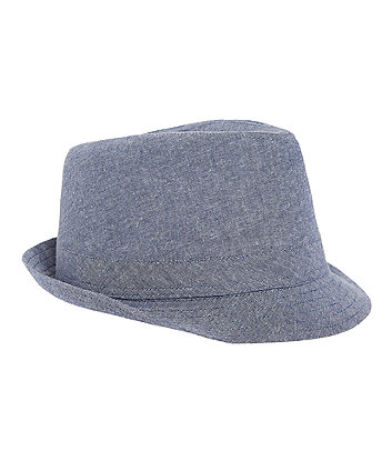 Chambray Trilby Hat