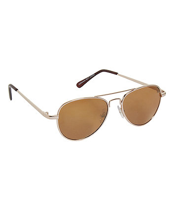 Mothercare Gold Aviator Sunglasses