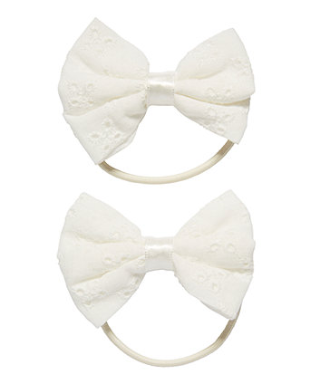 White Bow Hairbands - 2 Pack