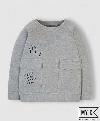 Mothercare My K Grey Pocket Sweat Top