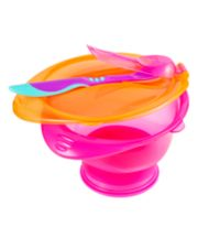 Mothercare Twist And Lock Suction Bowl Set - Pink