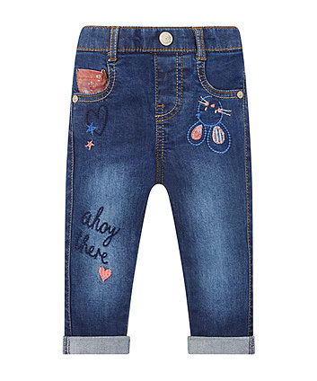 Mothercare Embroidered Denim Jeans