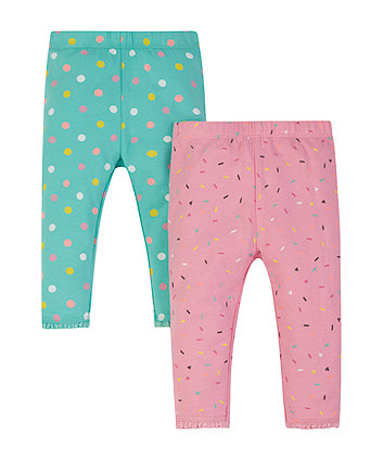 Confetti And Spot Leggings - 2 Pack