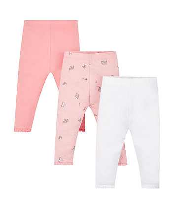 Pink Circus Leggings - 3 Pack