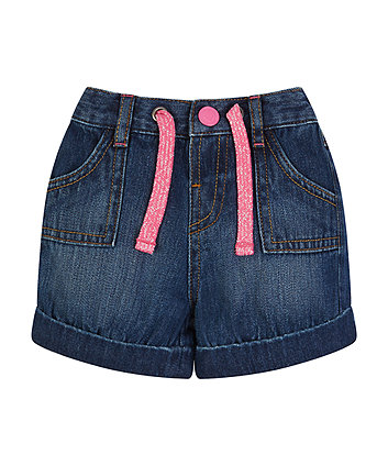 Mothercare Tie Waist Denim Shorts