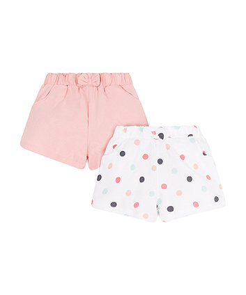 Pink And Spotty Shorts - 2 Pack