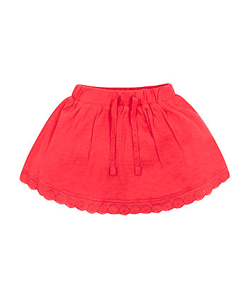 Mothercare Red Frilly Skorts