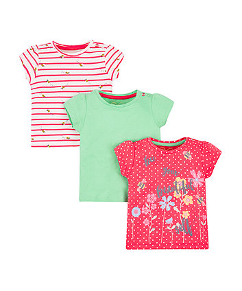 Mothercare Bee Beautiful T-Shirts - 3 Pack