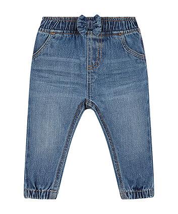 Mid Wash Denim Cuffed Jeans