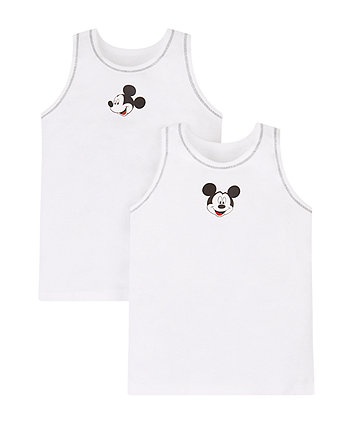 Disney Mickey Mouse Vests - 2 Pack