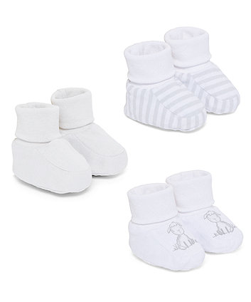 Mothercare Little Lamb Socktops - 3 Pack