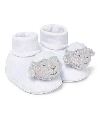 Mothercare White Lamb Socktops