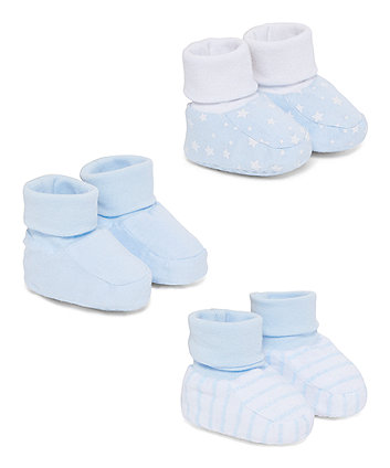 Mothercare Blue Patterned Socktops - 3 Pack