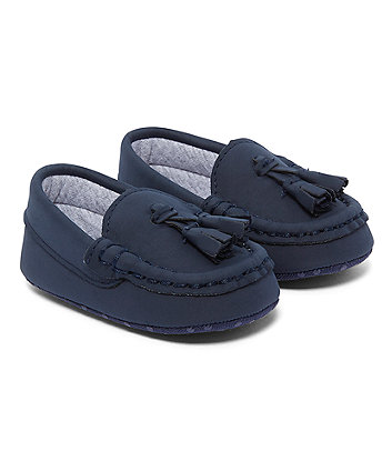 Navy Tassel Loafers