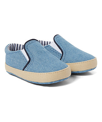 Mothercare Chambray Pram Shoes