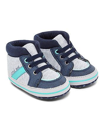 Mothercare Grey Hi-Top Pram Shoes