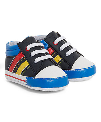 Mothercare Colourful Hi-Top Pram Shoes