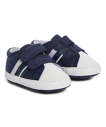 Mothercare Navy Pram Shoes Trainers