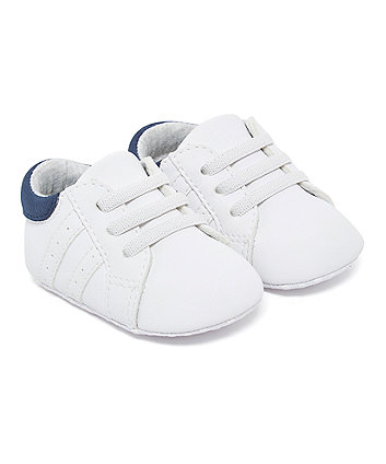 Mothercare White Pram Shoe Trainers
