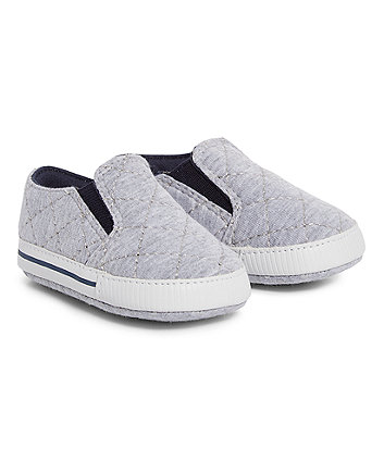 Mothercare Grey Quilted Pram Shoes