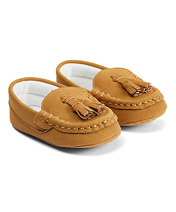 Mothercare Tan Tassel Loafers