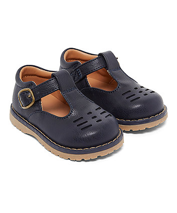 Mothercare First Walkers Navy T-Bar Shoes