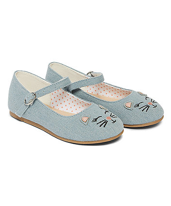Blue Cat Mary Jane Shoes