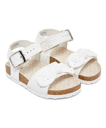 White Broderie Sandals