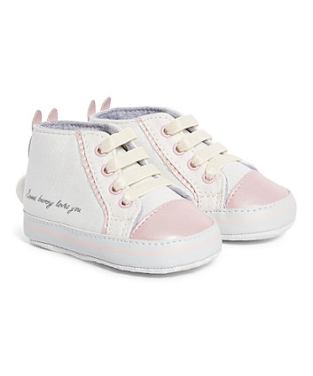Mothercare Bunny Hi-Top Pram Shoes
