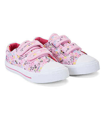 Mothercare Hearts And Ponies Canvas Shoes