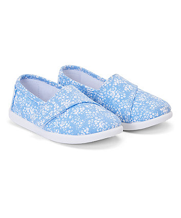 Mothercare Blue Daisy Pumps