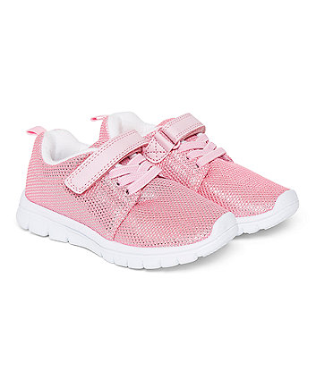 Pink Metallic Lightweight Trainers