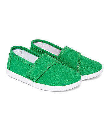 Mothercare Green Canvas Pumps
