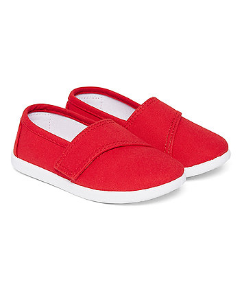 Mothercare Red Canvas Pumps