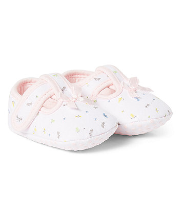 Mothercare Butterfly T-Bar Pram Shoes