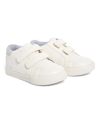 Mothercare White And Silver Sporty Trainers
