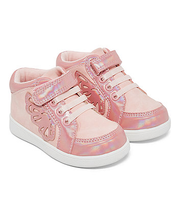 pink butterfly hi-tops