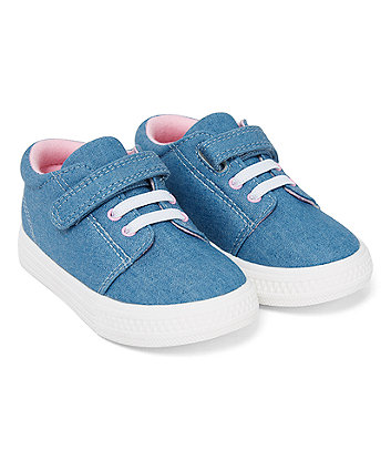 Mothercare Chambray Canvas Pumps