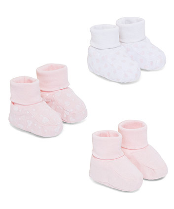 Mothercare Pink Patterned Socktops - 3 Pack