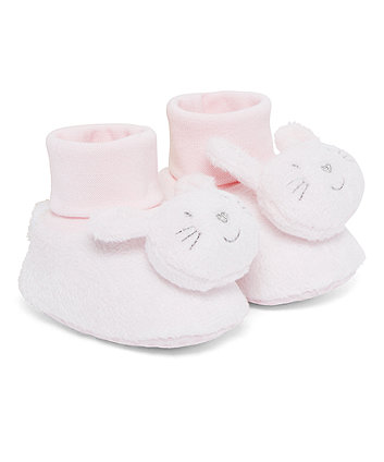 Mothercare Pink Rabbit Socktops