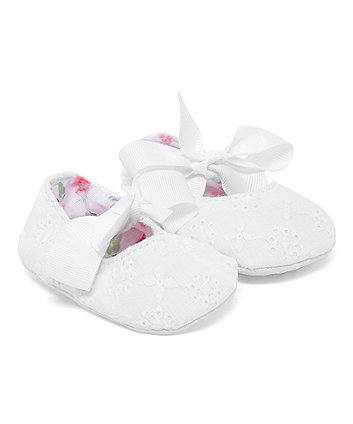 Mothercare White Lace Pram Shoes
