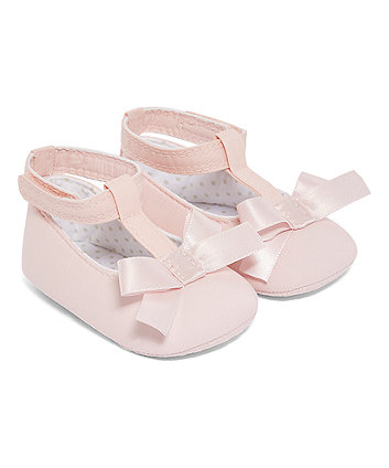 Mothercare Pink T-Bar Pumps