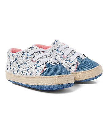 Mothercare Lace Cat Pram Shoes