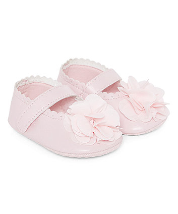 pink corsage pram shoes