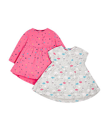 Cloud And Heart Dresses - 2 Pack
