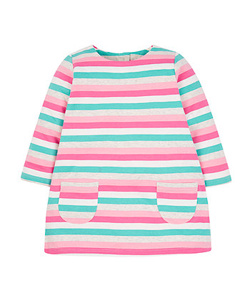 Multicoloured Stripe Sweat Dress