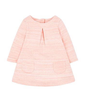 coral marl dress