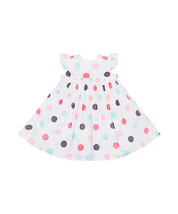 White Spotty Dress