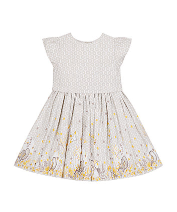 Mothercare Grey Bird Prom Dress