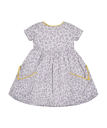 Mothercare Grey Floral Pocket Dress